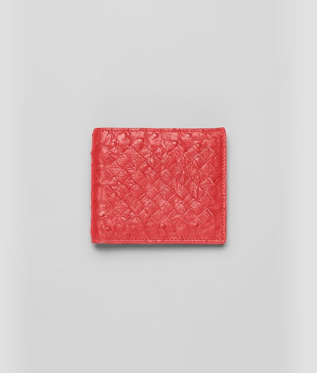 BOTTEGA VENETA BI-FOLD WALLET IN NEW RED OSTRICH Bi-fold Wallet U fp