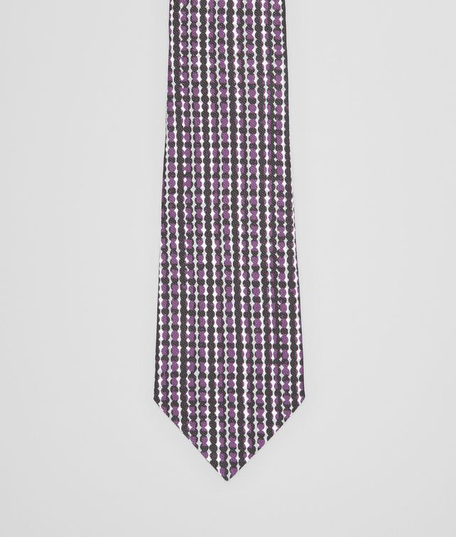 BOTTEGA VENETA BLACK DARK PURPLE COTTON SILK TIE Tie U fp