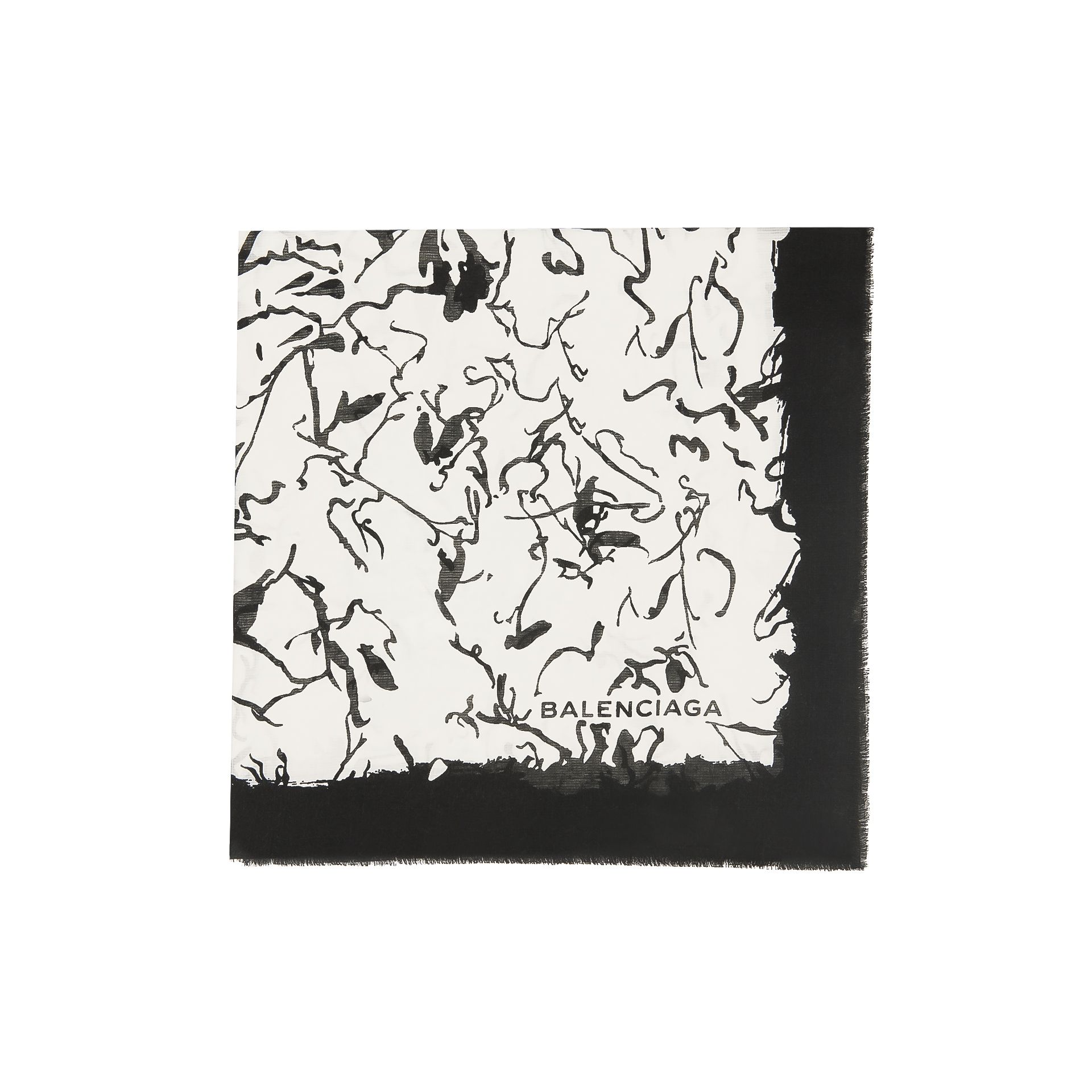 BALENCIAGA Balenciaga 'Ink Drawing' Scarf  Scarves & foulards D f