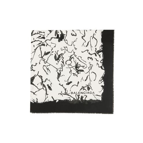 BALENCIAGA Scarves & foulards D Balenciaga 'Ink Drawing' Scarf  f