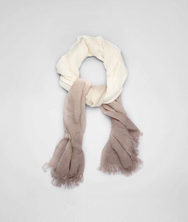 BOTTEGA VENETA Écharpe ivoire beige en soie écharpe ou gant ou chapeau U fp