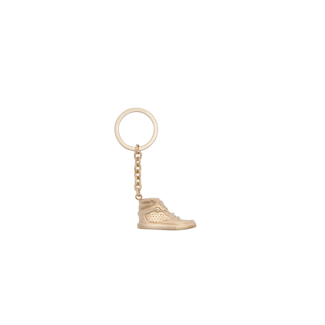 BALENCIAGA Balenciaga Portachiavi Sneaker Oro Chiaro con Moschettone Portachiavi D f