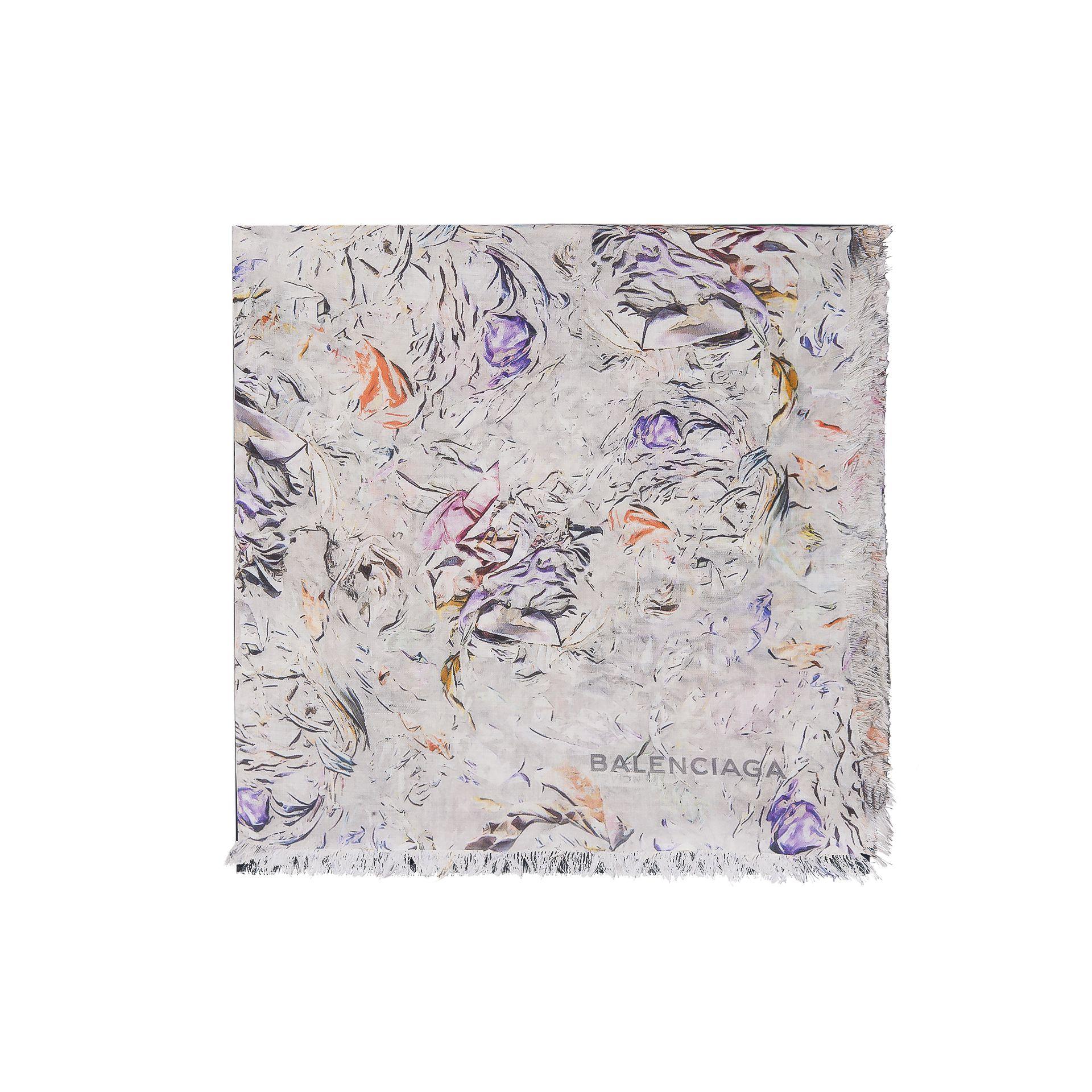 BALENCIAGA Balenciaga Abstract Garden Scarf Scarves & foulards D f