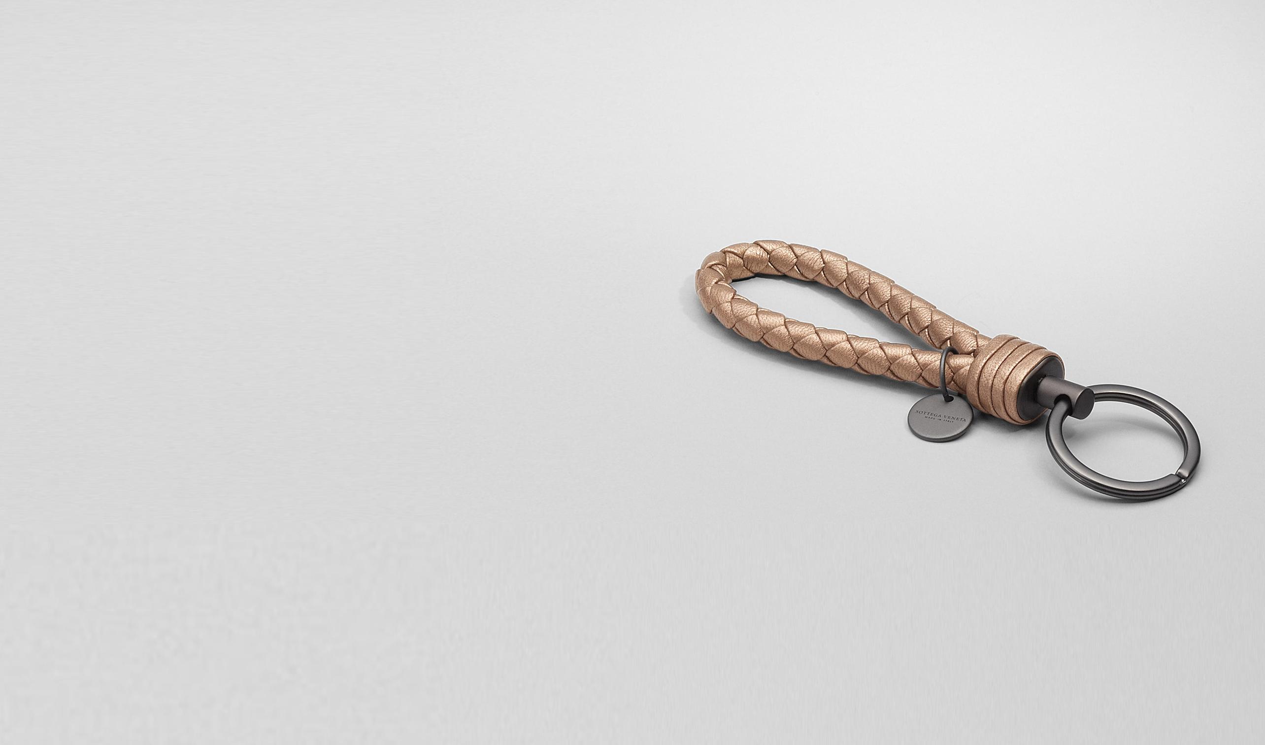 BOTTEGA VENETA Keyring or Bracelets D RAME MET INTRECCIATO NAPPA METALLIZZATO Key Ring pl