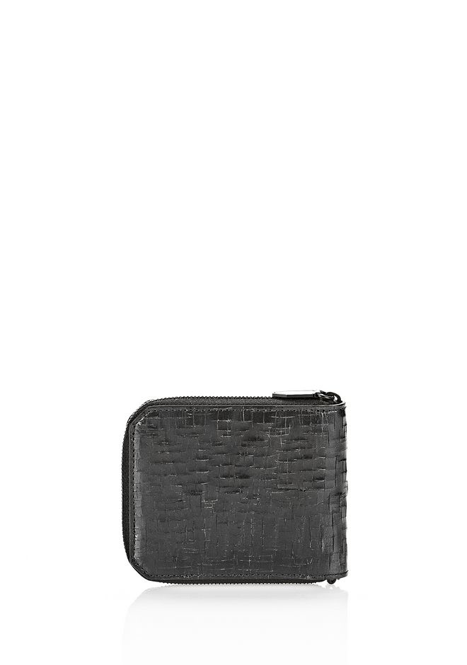 ALEXANDER WANG ZIPPED BI-FOLD WALLET IN WITH MATTE BLACK Wallets Adult 12_n_d