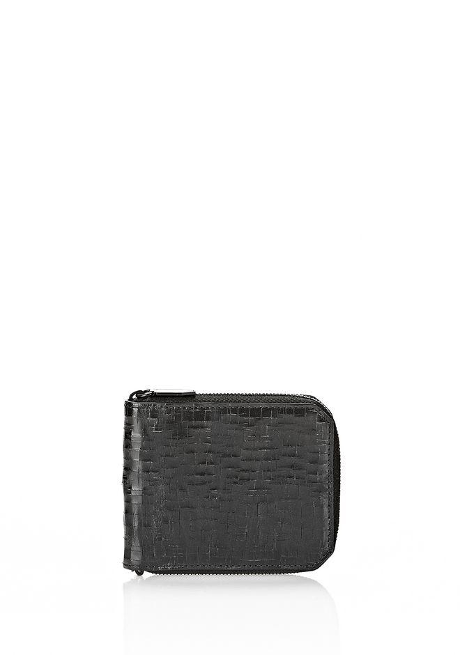 ALEXANDER WANG ZIPPED BI-FOLD WALLET IN WITH MATTE BLACK Wallets Adult 12_n_f