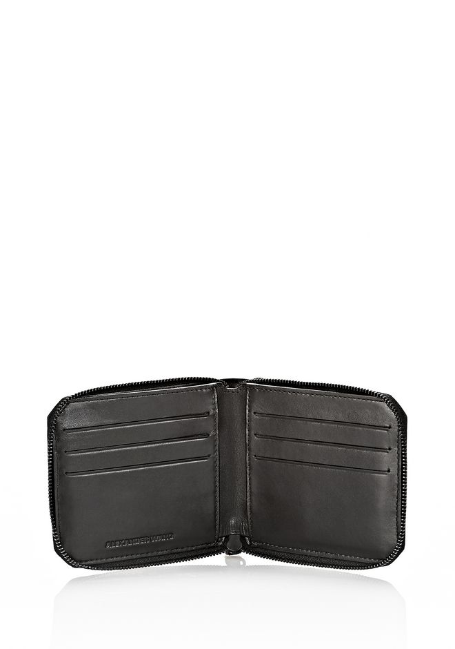 ALEXANDER WANG ZIPPED BI-FOLD WALLET IN WITH MATTE BLACK Wallets Adult 12_n_r
