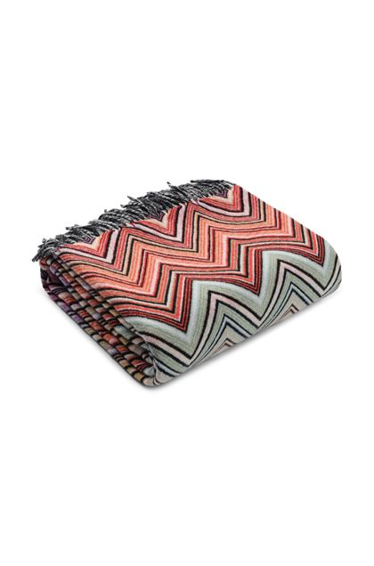 MISSONI HOME PERSEO PLAID Vert clair E - Devant
