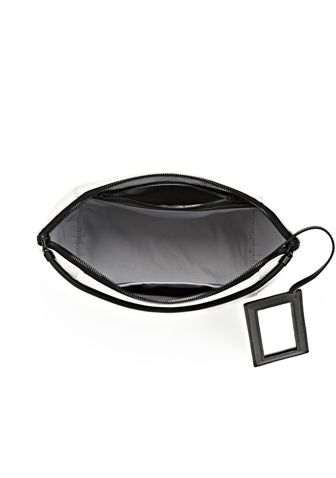 ALEXANDER WANG EXCLUSIVE LARGE CHASTITY MAKE UP POUCH IN CHALK SMALL LEATHER GOOD Adult 12_n_d