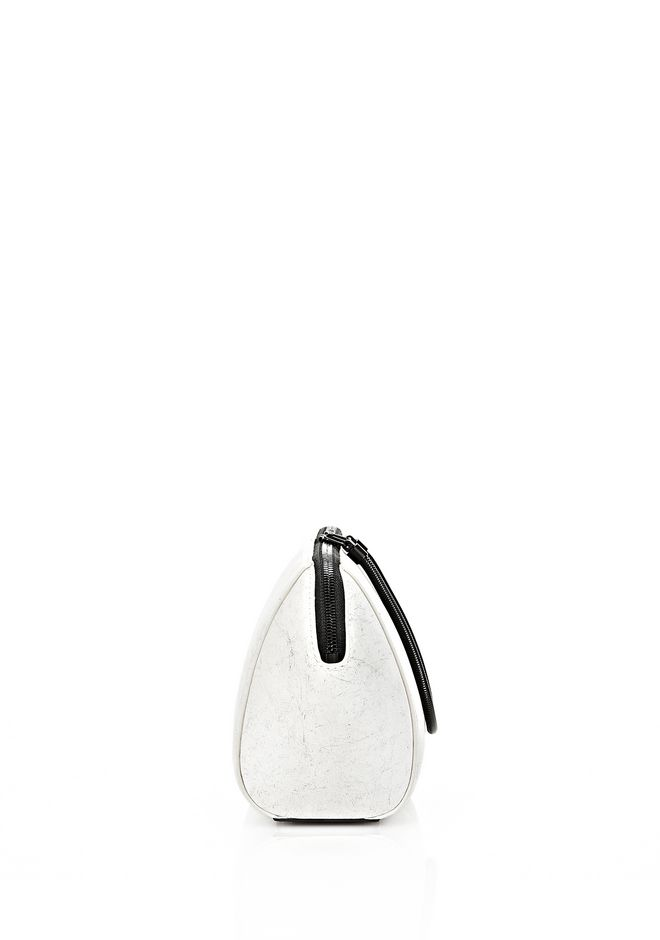 ALEXANDER WANG EXCLUSIVE LARGE CHASTITY MAKE UP POUCH IN CHALK SMALL LEATHER GOOD Adult 12_n_e