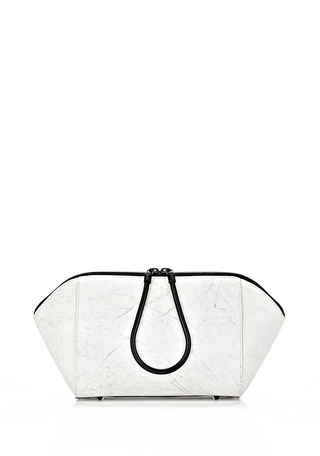 ALEXANDER WANG EXCLUSIVE LARGE CHASTITY MAKE UP POUCH IN CHALK SMALL LEATHER GOOD Adult 12_n_f
