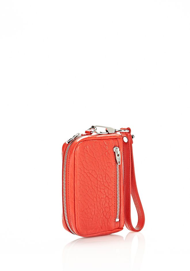 ALEXANDER WANG FUMO LARGE WALLET IN COLA WITH RHODIUM  SMALL LEATHER GOOD Adult 12_n_d