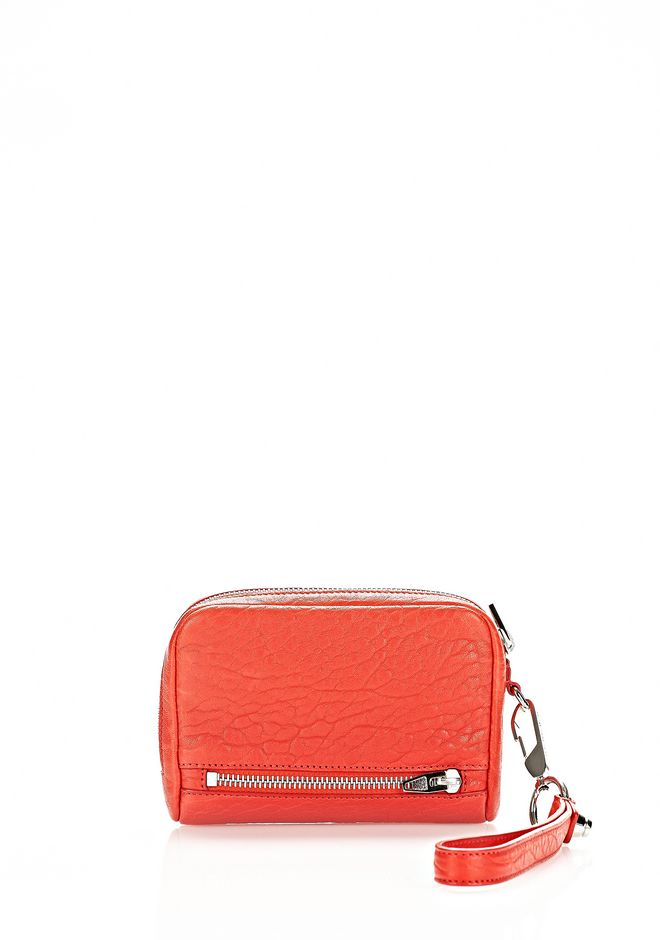 ALEXANDER WANG FUMO LARGE WALLET IN COLA WITH RHODIUM  SMALL LEATHER GOOD Adult 12_n_r