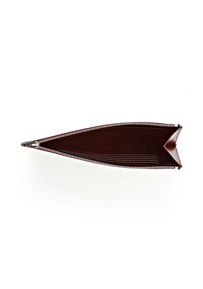 ALEXANDER WANG PRISMA FLAT POUCH IN CORDOVAN SOFT DRAPE CALF WITH RHODIUM SMALL LEATHER GOOD Adult 12_n_e