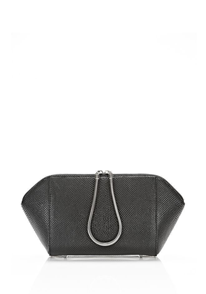 ALEXANDER WANG LARGE CHASTITY MAKE UP POUCH IN BLACK SMALL LEATHER GOOD Adult 12_n_f