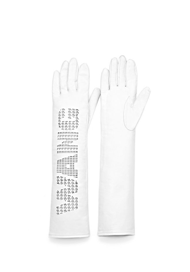ALEXANDER WANG ELBOW LENGTH GLOVE WITH LOGO SMALL LEATHER GOOD Adult 12_n_e