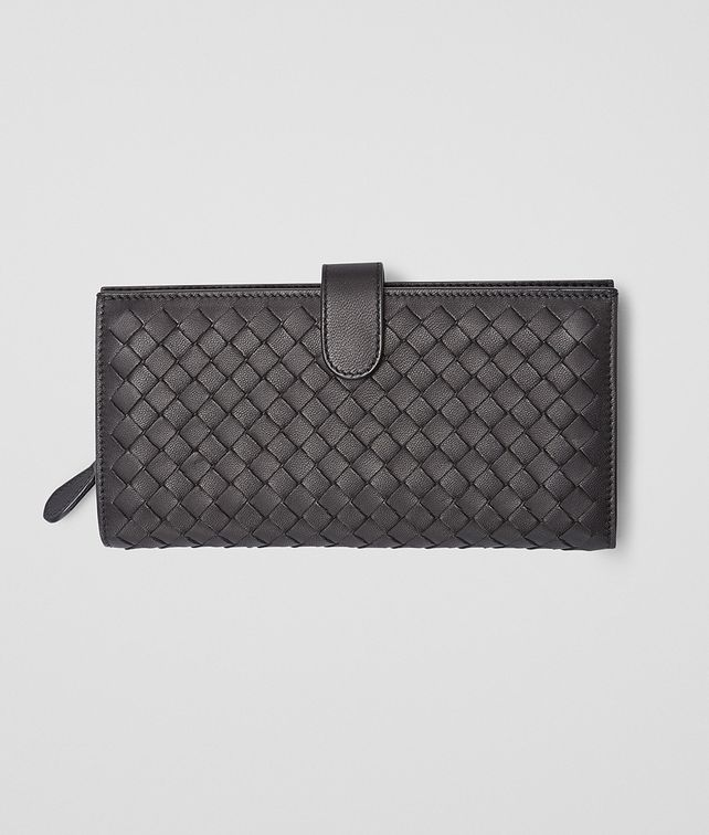 BOTTEGA VENETA CONTINENTAL WALLET IN NERO INTRECCIATO NAPPA Continental Wallet D fp