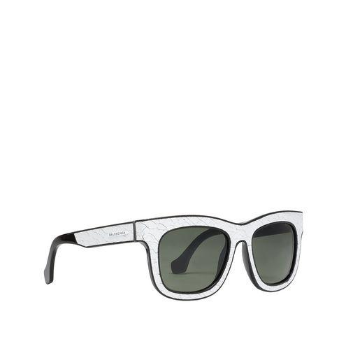 Sonnenbrille in eckiger Form mit Riss-Effekt