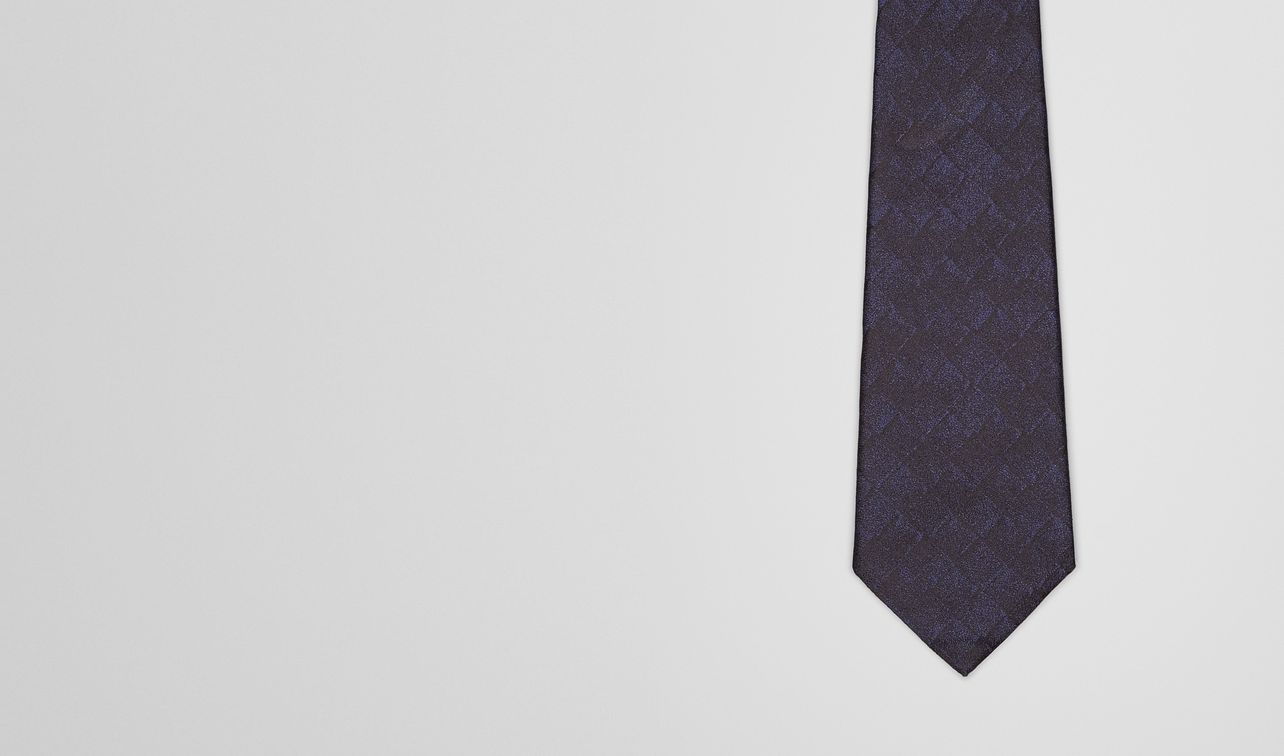 midnight blue black silk tie landing