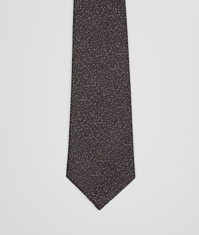 BOTTEGA VENETA TIE IN BLACK MEDIUM GREY SILK Tie U fp