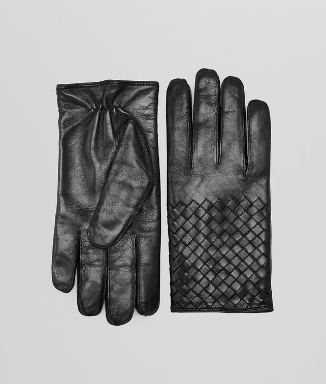 BOTTEGA VENETA GLOVES IN NERO NAPPA Scarves, Gloves & Others Man fp