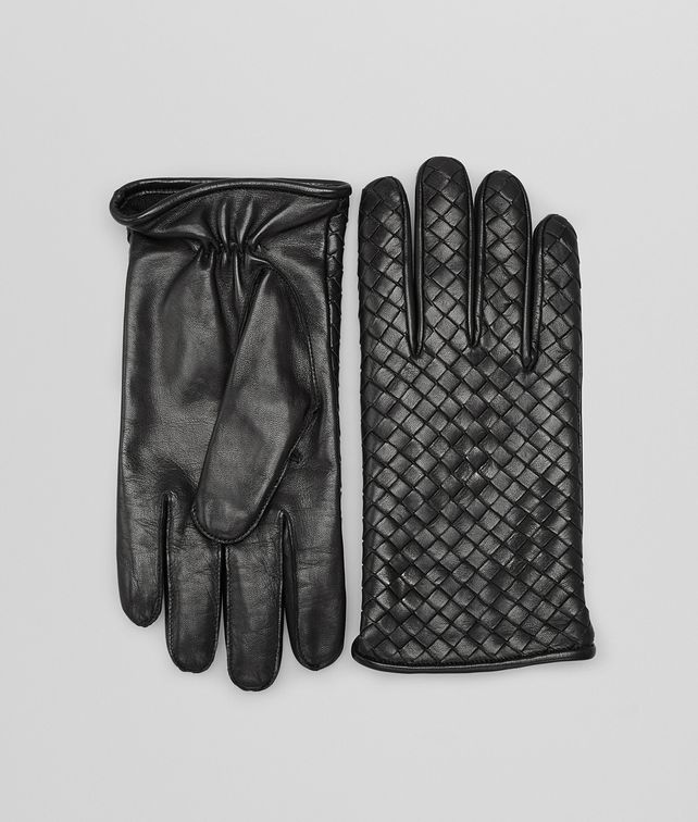 BOTTEGA VENETA GLOVES IN NERO NAPPA Hat or gloves Man fp