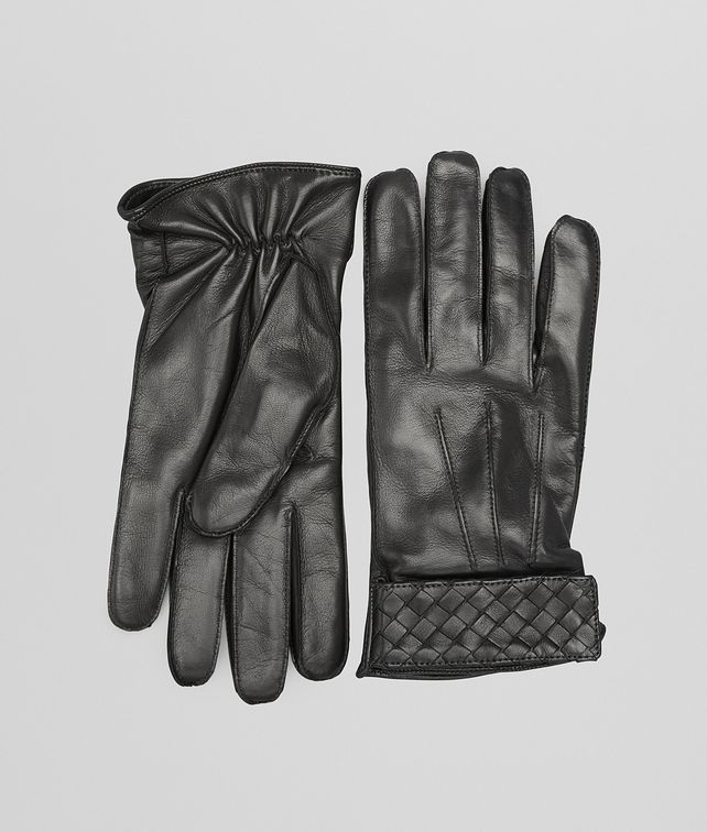 BOTTEGA VENETA GLOVES IN NERO NAPPA Scarf or other Man fp