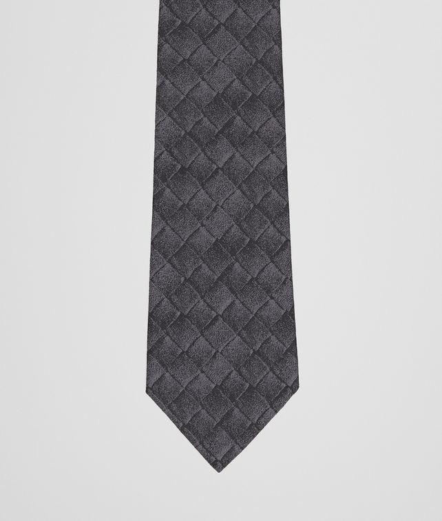 BOTTEGA VENETA TIE IN ANTHRACITE BLACK SILK  Tie U fp