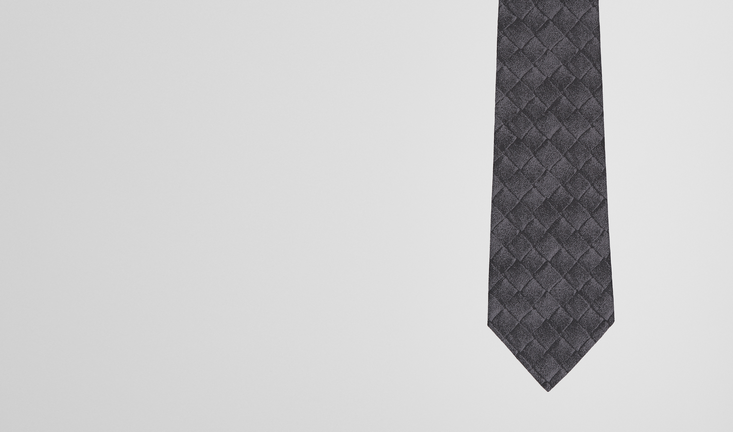 BOTTEGA VENETA Tie U TIE IN ANTHRACITE BLACK SILK  pl