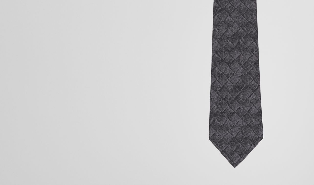 tie in anthracite black silk  landing