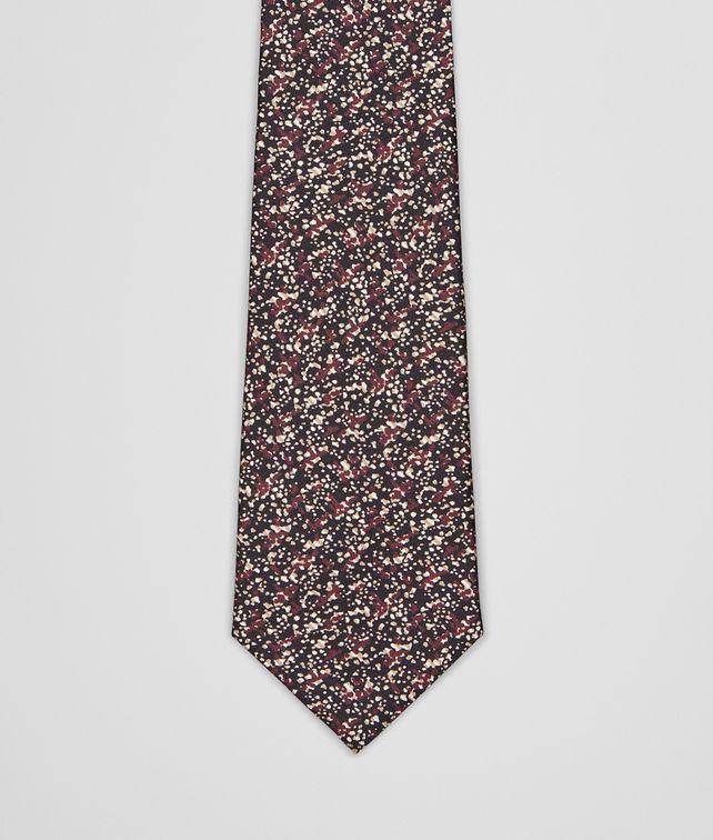 BOTTEGA VENETA Aubergine Black Silk Tie Tie U fp