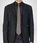 BOTTEGA VENETA Aubergine Black Silk Tie Tie U rp