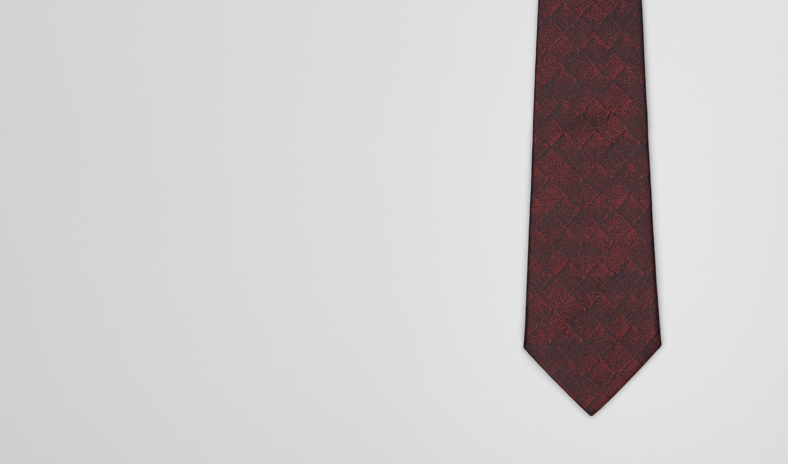 BOTTEGA VENETA Tie U TIE IN BORDEAUX BLACK SILK pl