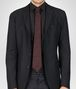 BOTTEGA VENETA TIE IN BORDEAUX BLACK SILK Tie Man rp