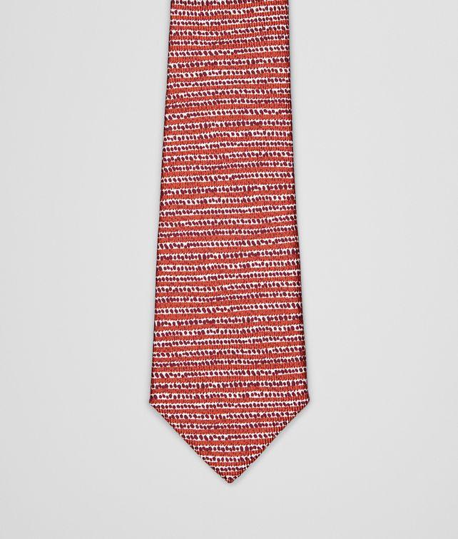 BOTTEGA VENETA Sienna Bordeaux Silk Tie Tie U fp