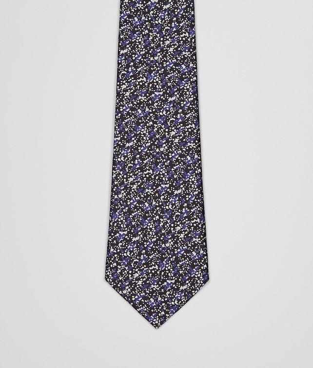 BOTTEGA VENETA Sapphire Black Silk Tie Tie U fp
