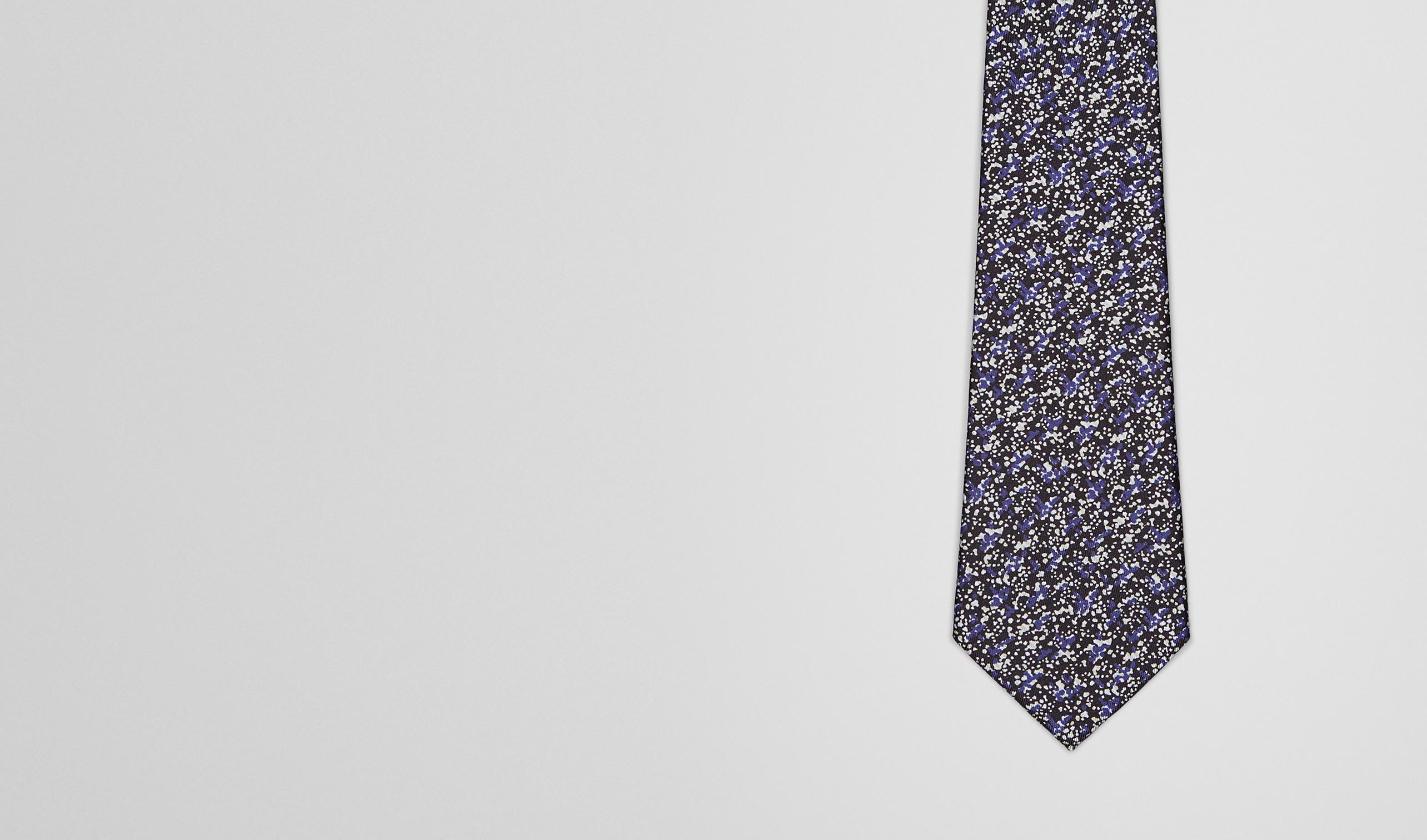 BOTTEGA VENETA Cravatte U CRAVATTA SAPPHIRE E BLACK IN SETA pl