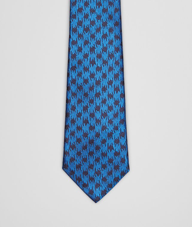 BOTTEGA VENETA Royal Blue Silk Tie Tie U fp
