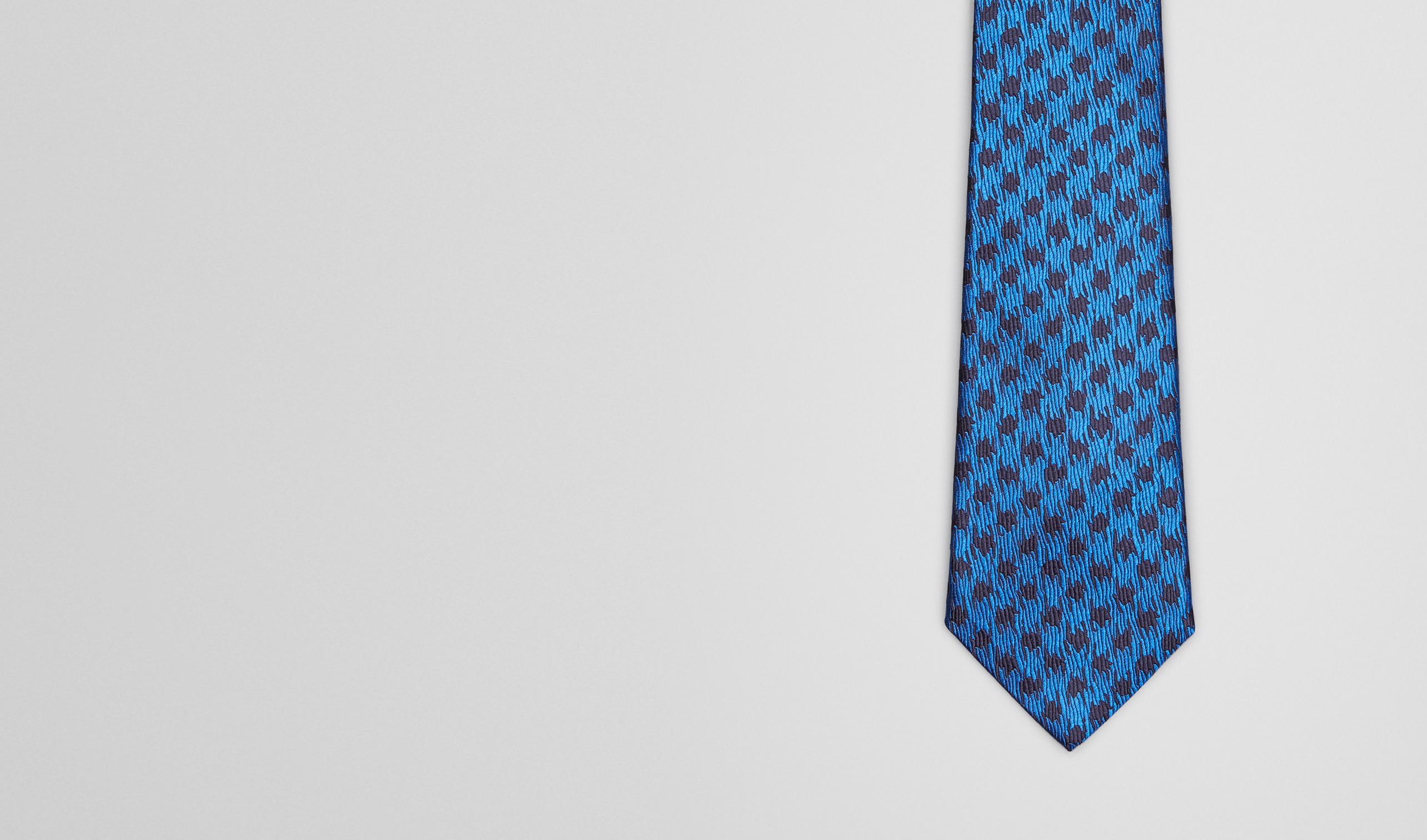 BOTTEGA VENETA Tie U Royal Blue Silk Tie pl