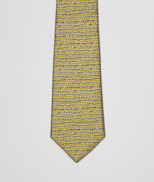 BOTTEGA VENETA TIE IN CITRON DARK GREEN SILK Tie U fp