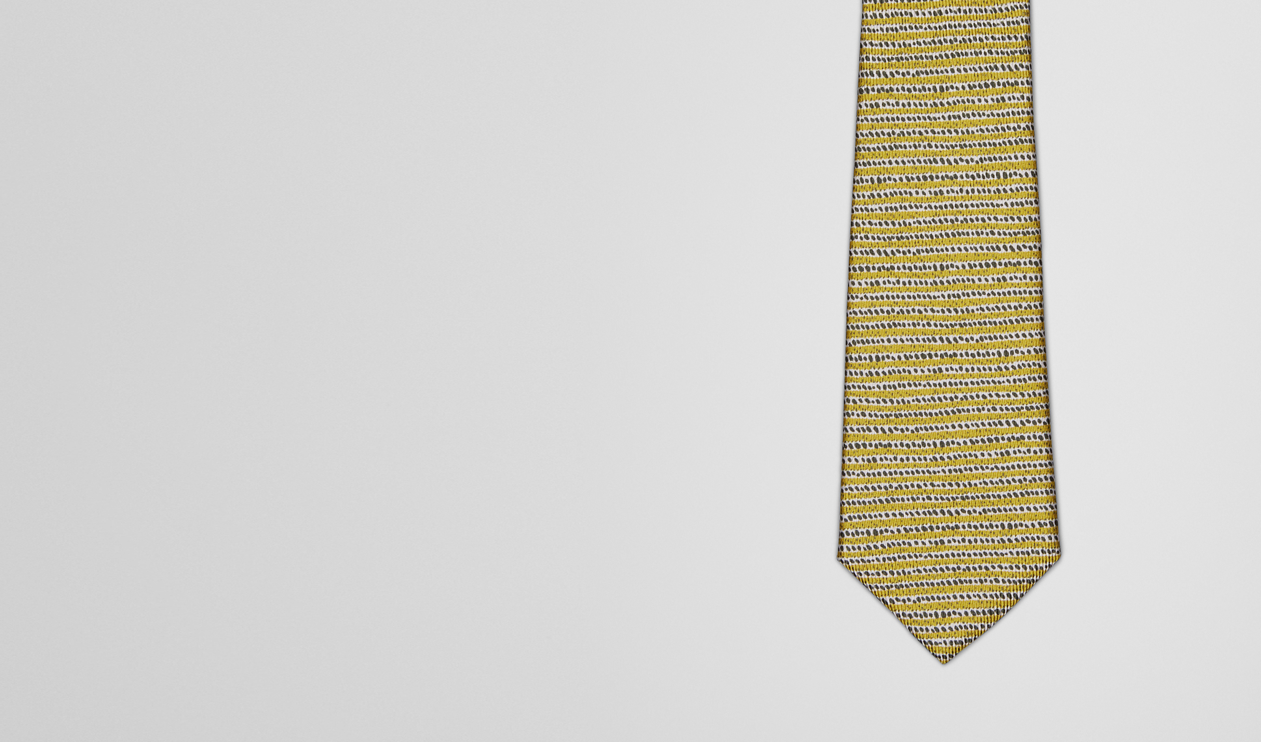 BOTTEGA VENETA Tie U TIE IN CITRON DARK GREEN SILK pl
