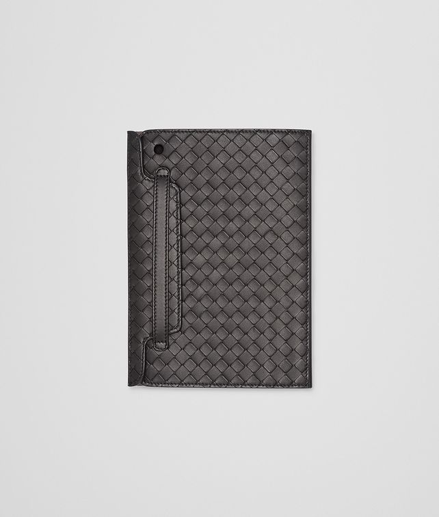 BOTTEGA VENETA MINI IPAD CASE IN NERO INTRECCIATO NAPPA Other Leather Accessory E fp