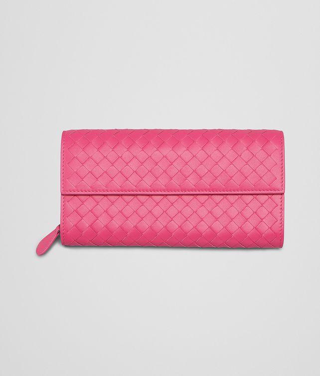 BOTTEGA VENETA Rosa Shock Intrecciato Nappa Continental Wallet Continental Wallet D fp