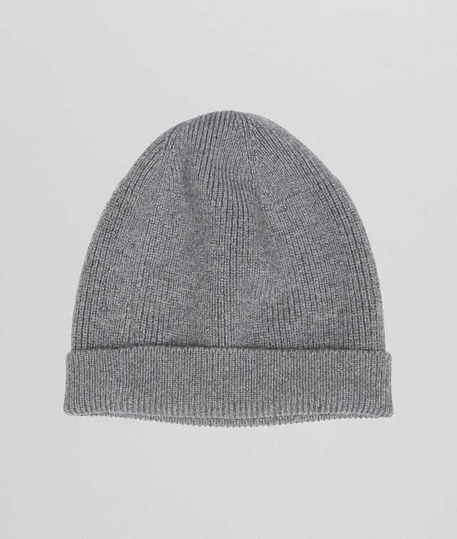 BOTTEGA VENETA Ardoise Melange Merinos Wool Hat Scarf or Hat or Glove U fp