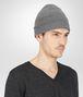 BOTTEGA VENETA BONNET ARDOISE EN MÉLANGE DE LAINE MÉRINOS écharpe ou gant ou chapeau U rp