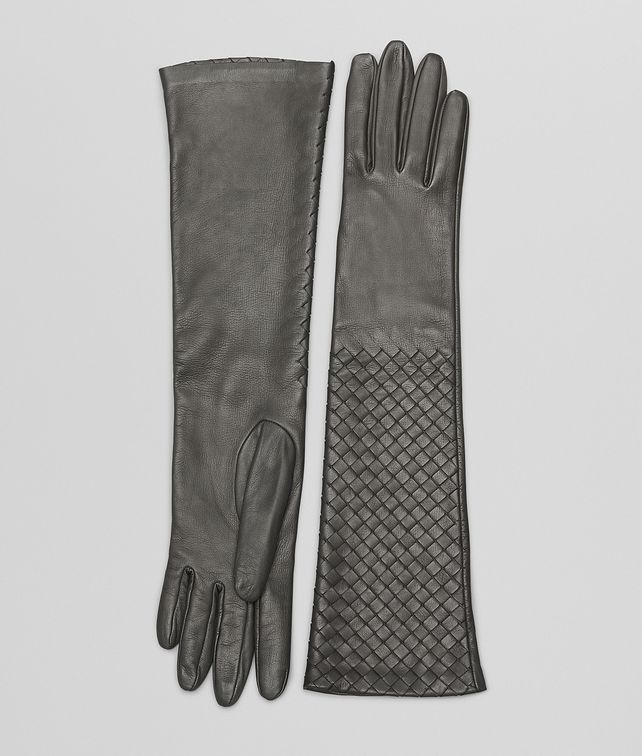 BOTTEGA VENETA MEDIUM GREY INTRECCIATO NAPPA  GLOVES Scarf or other D fp