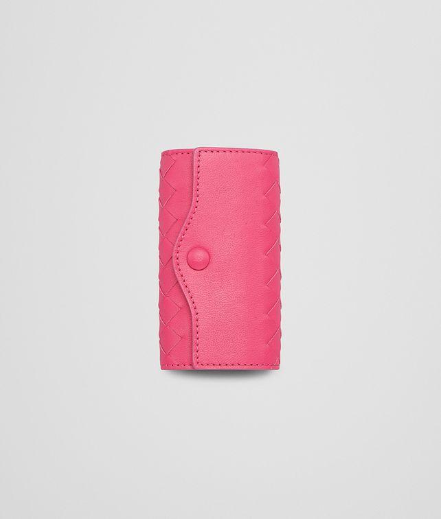 BOTTEGA VENETA Rosa Shock Intrecciato Nappa Key Case Keyring or Bracelets E fp