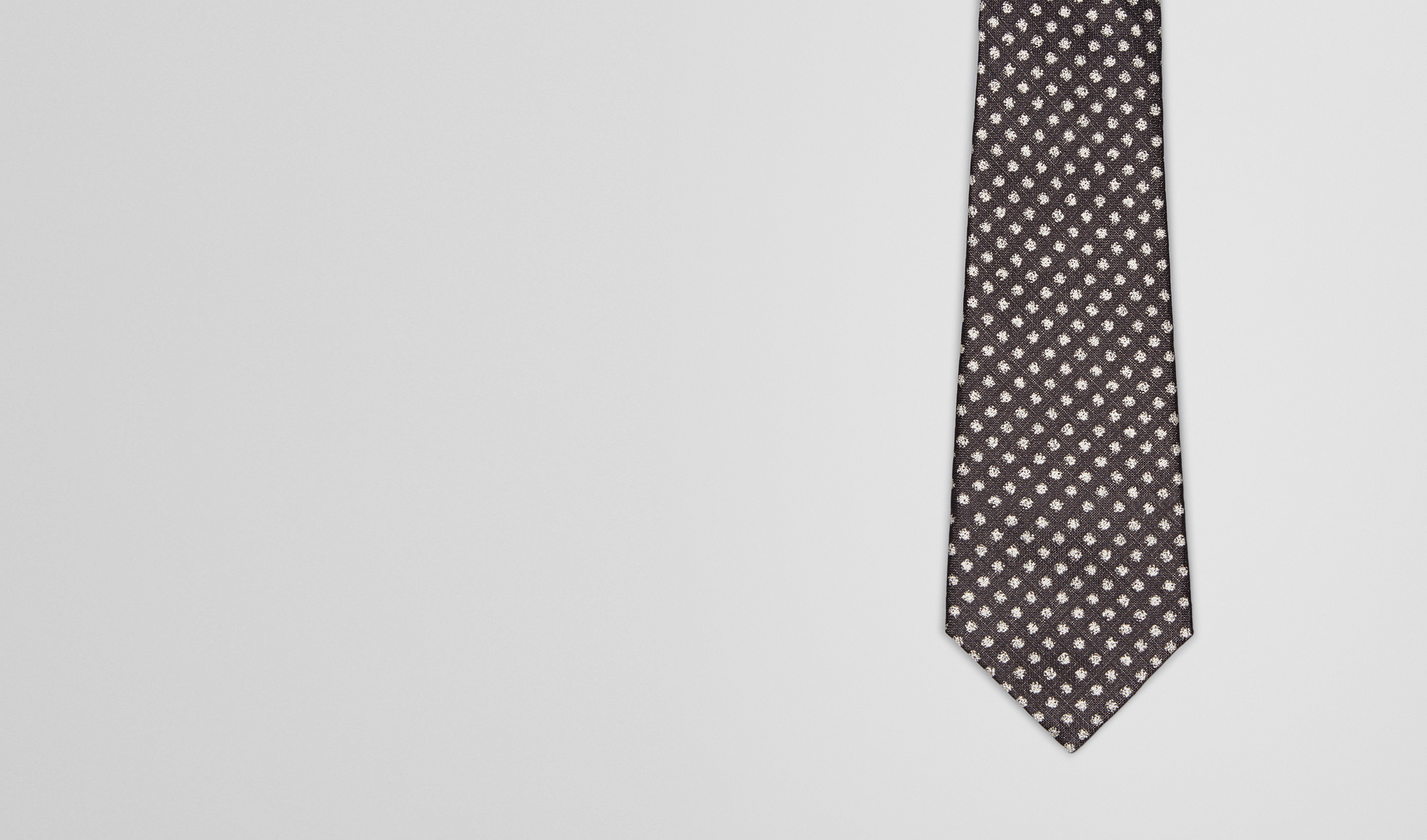 BOTTEGA VENETA Krawatte U SEIDENKRAWATTE BLACK UND BEIGE pl