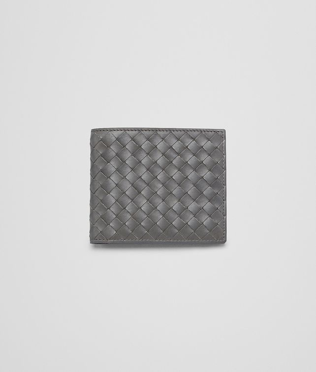 Bottega Veneta Medium Grey Intrecciato Vachette Wallet