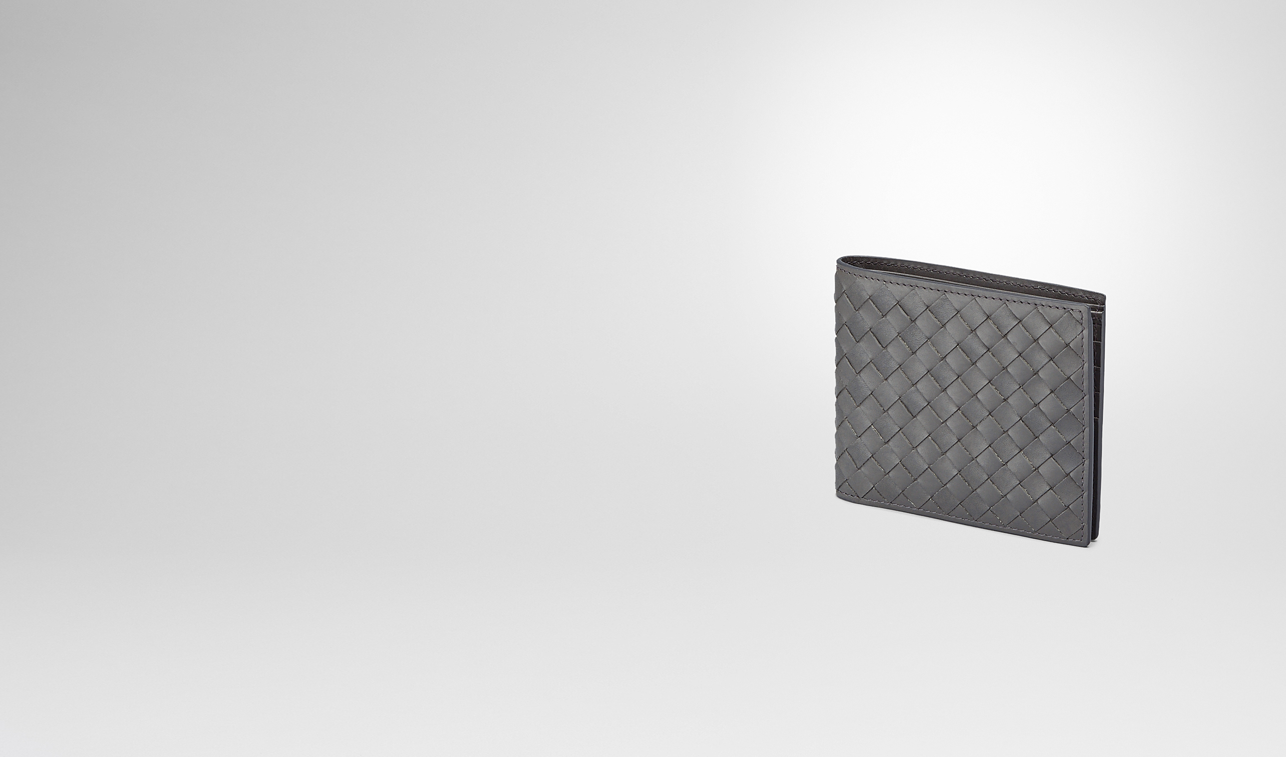 BOTTEGA VENETA Bi-fold Wallet U Medium Grey Intrecciato Vachette Wallet pl